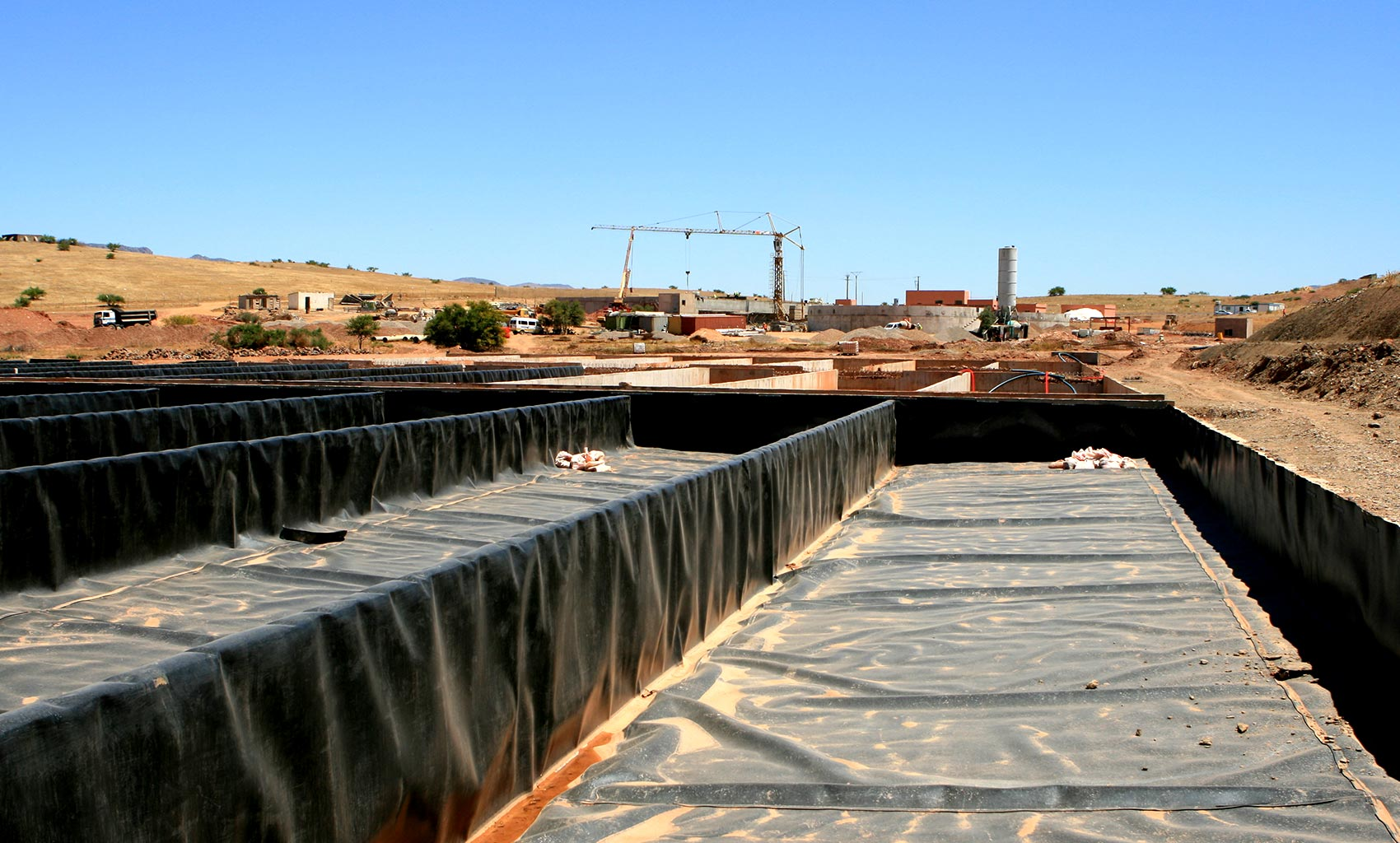 Sludge drying beds under construction.jpg